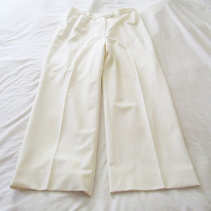 LAFAYETTE 148 New York White Lined Trousers 10